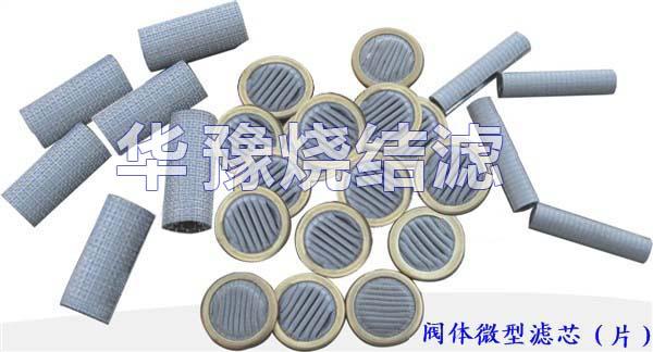 微型阀体滤芯